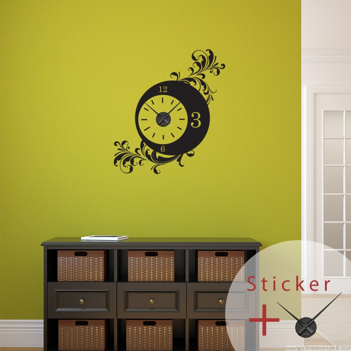 Sticker Horloge Baroque Wall Decals Clocks And Walls