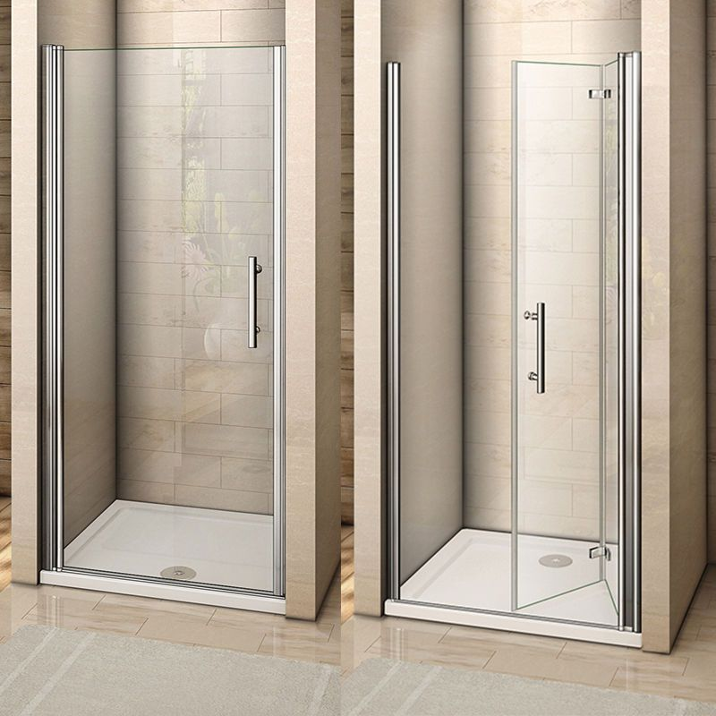 Frameless Pivot Bifold Shower Enclosure Door Glass Screen Panel 760 800 900 1000 Ebay Shower Doors Shower Enclosure Doors Small Shower Room