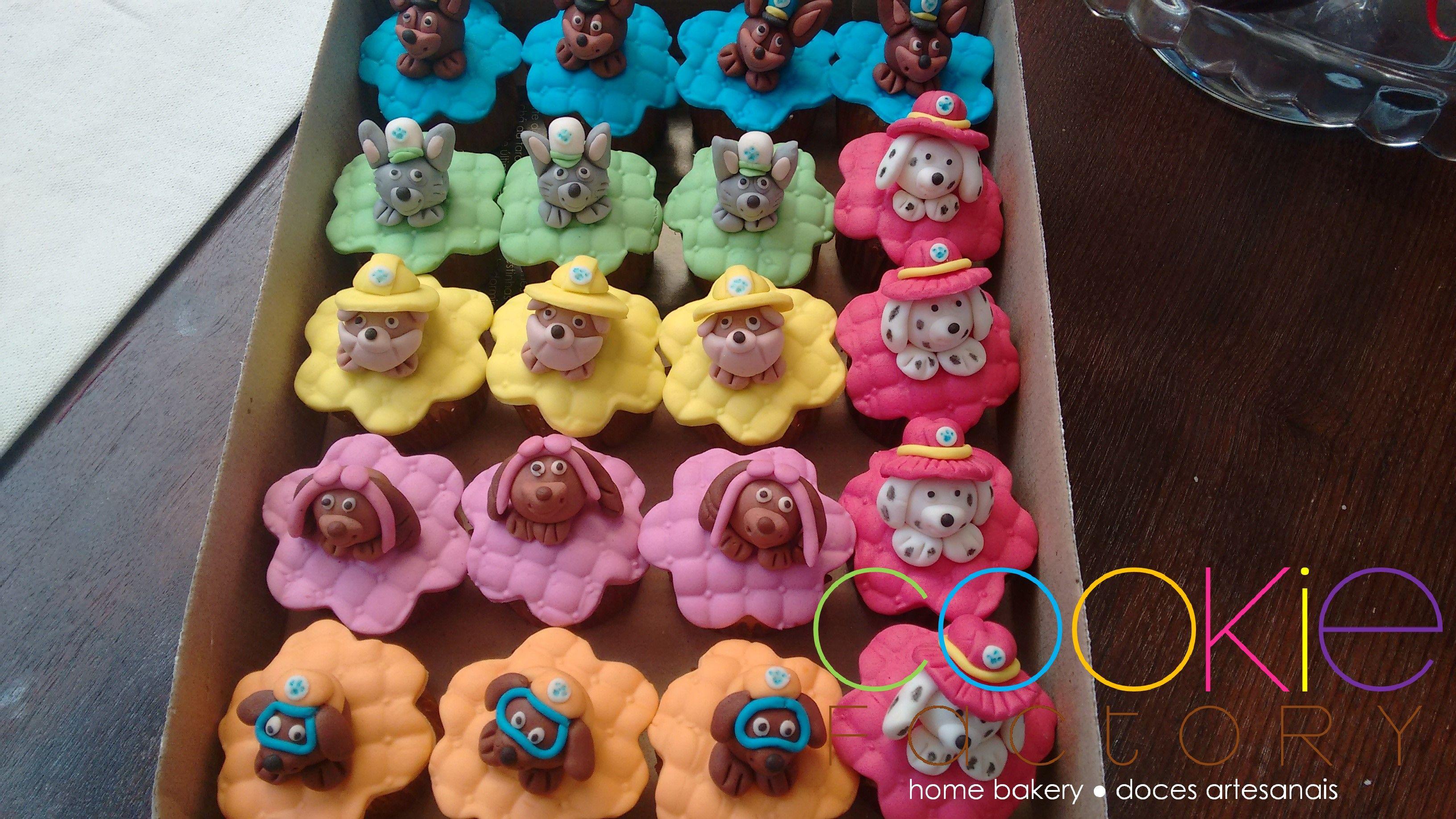 mini cupcakes decorados - tema patrulha canina