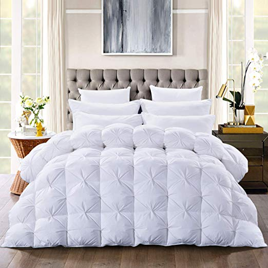 Amazon Com Luxurious Goose Down Comforter Queen Size Duvet Insert Pinch Pleat Design 750 Fill Power 54oz Fill In 2020 Down Comforter King Comforter Queen Size Duvet