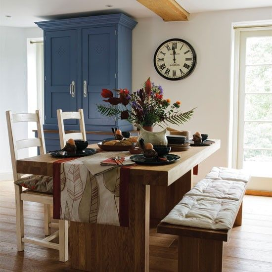 Small Space Dining Room Decoration Tips 17035: Artisan Country-style Dining Room
