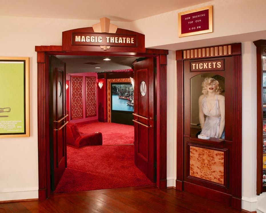 Bringing Home Theater Ticket Booth Design Into Home Spotlats Home Theaters Pinterest