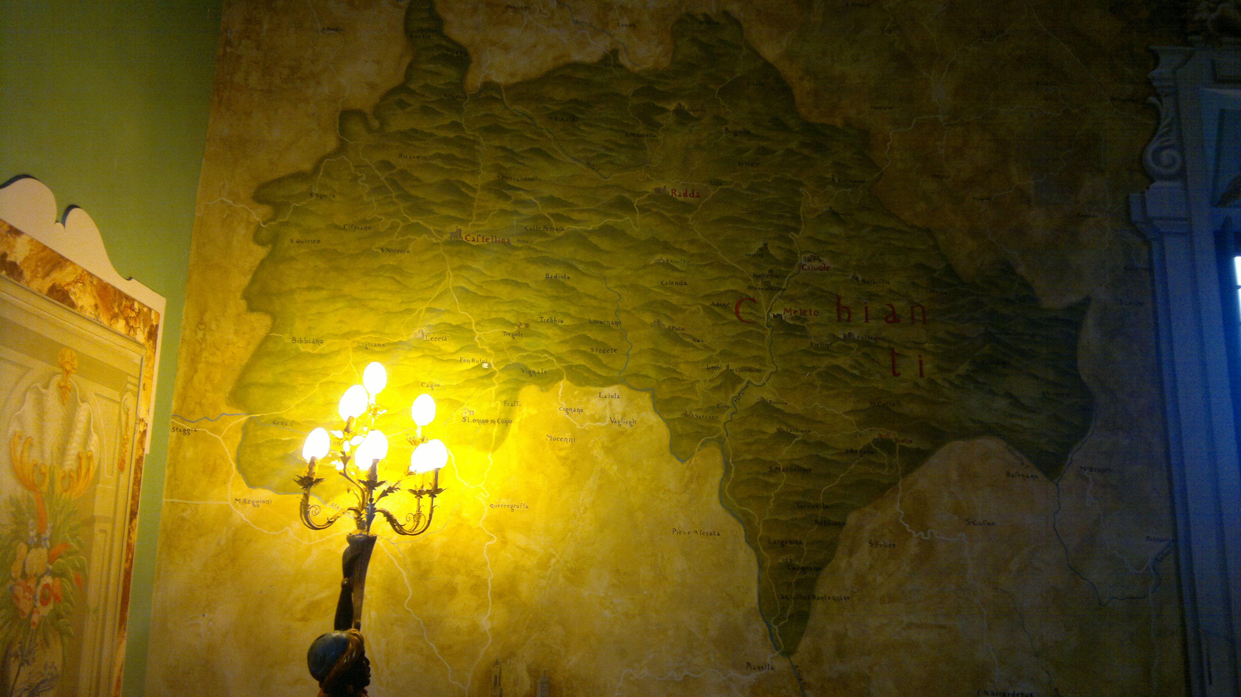 Chianti Classico Map, Castello di Meleto