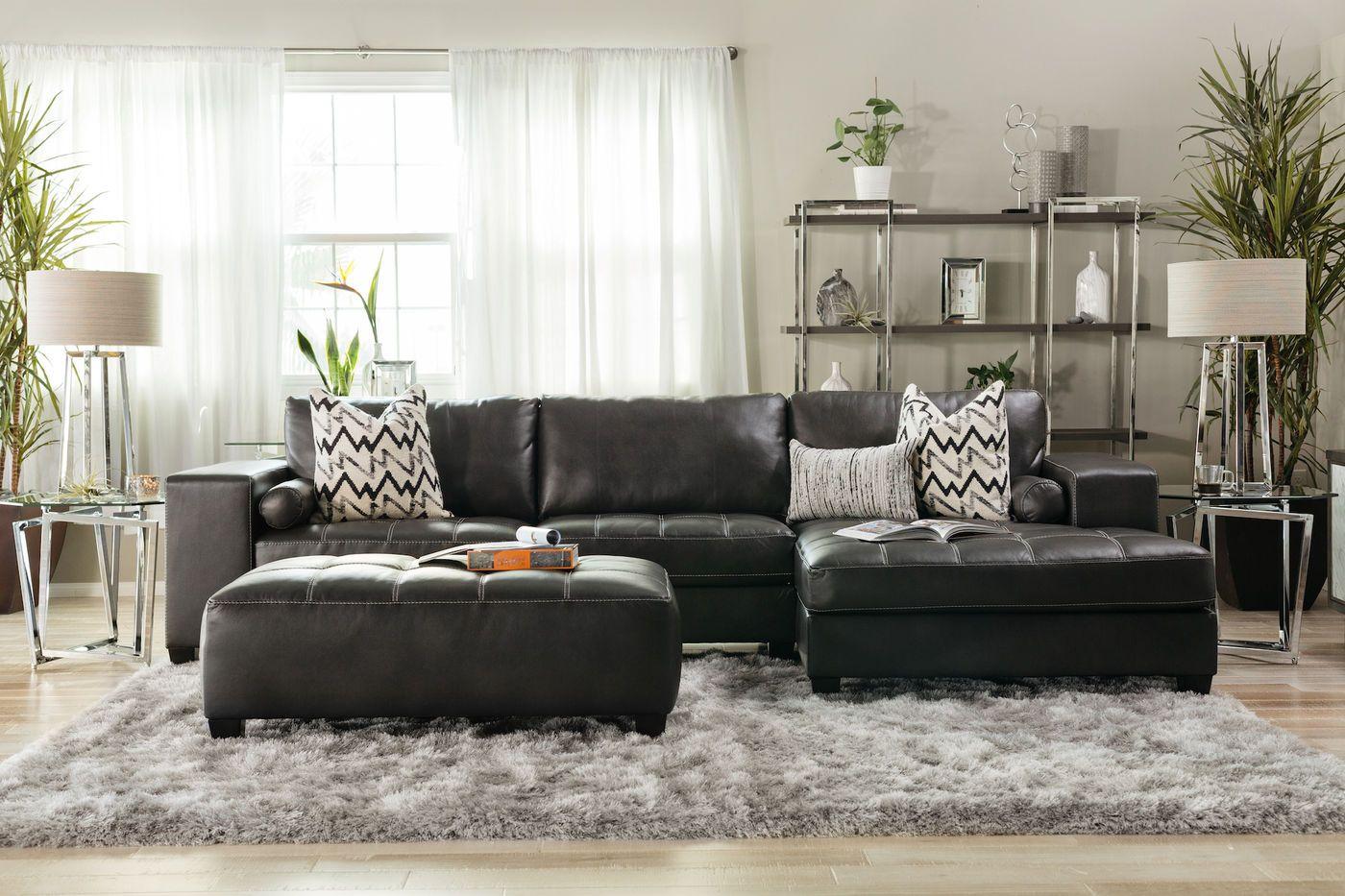 Ashley Nokomis Charcoal Two Piece Sectional Living Room