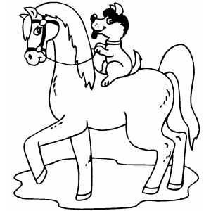 Dog Riding Horse Coloring Page Horse Template Horse Coloring Pages Horse Coloring