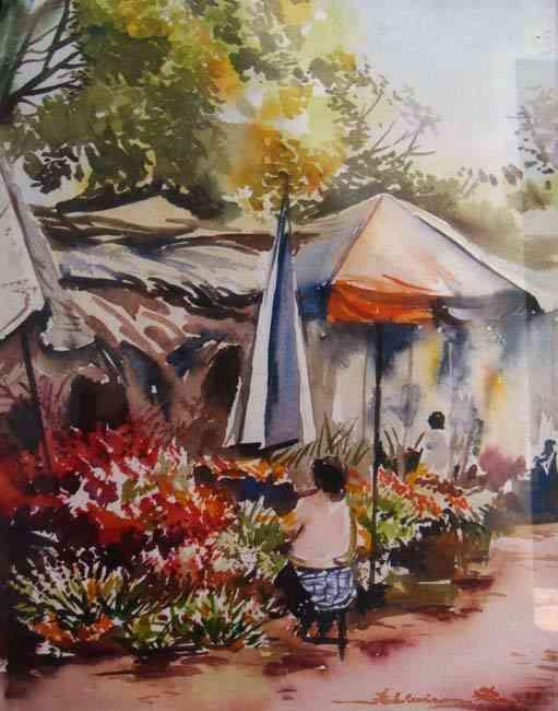 Peintre Malgache Romain Rakotoarimanana Tableau Peintre Peinture