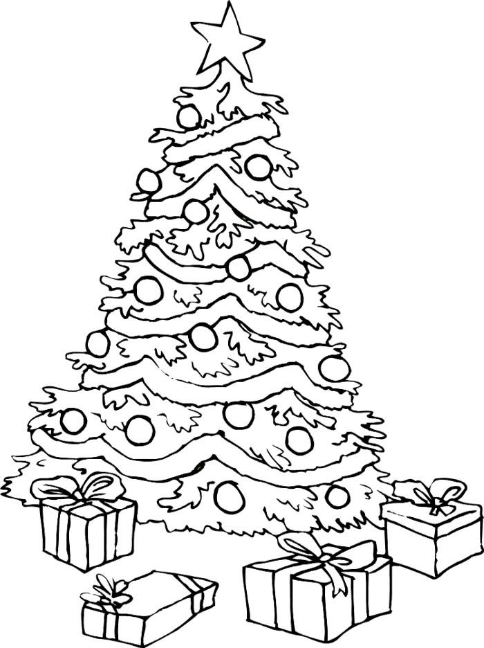 Free Printable Christmas Tree Coloring Pages For Kids ...