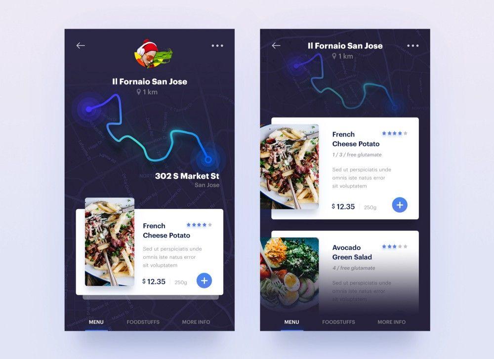 Designer Of The Week 29 Neon Food Web Inspiration Mobile App Design
