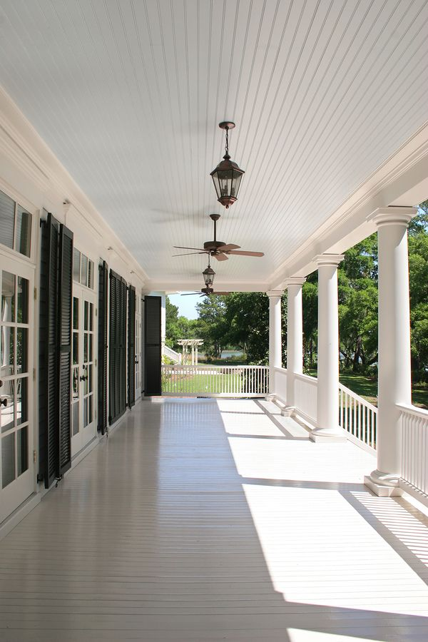 Pin By Vernon Melissa Bidmead On Granny Flat Blue Porch Ceiling Porch Ceiling Porch Flooring