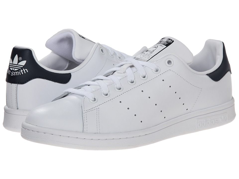 c768e6bae217 Adidas Stan Smith White · Stan Smith Shoes · Original Stan Smith · So  classic — love the navy heel (way more understated than the green version)
