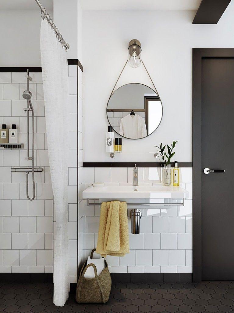 Accessoires Salle De Bain Azulejos ~ banheiro revestido de azulejo branco home dreams 1 pinterest