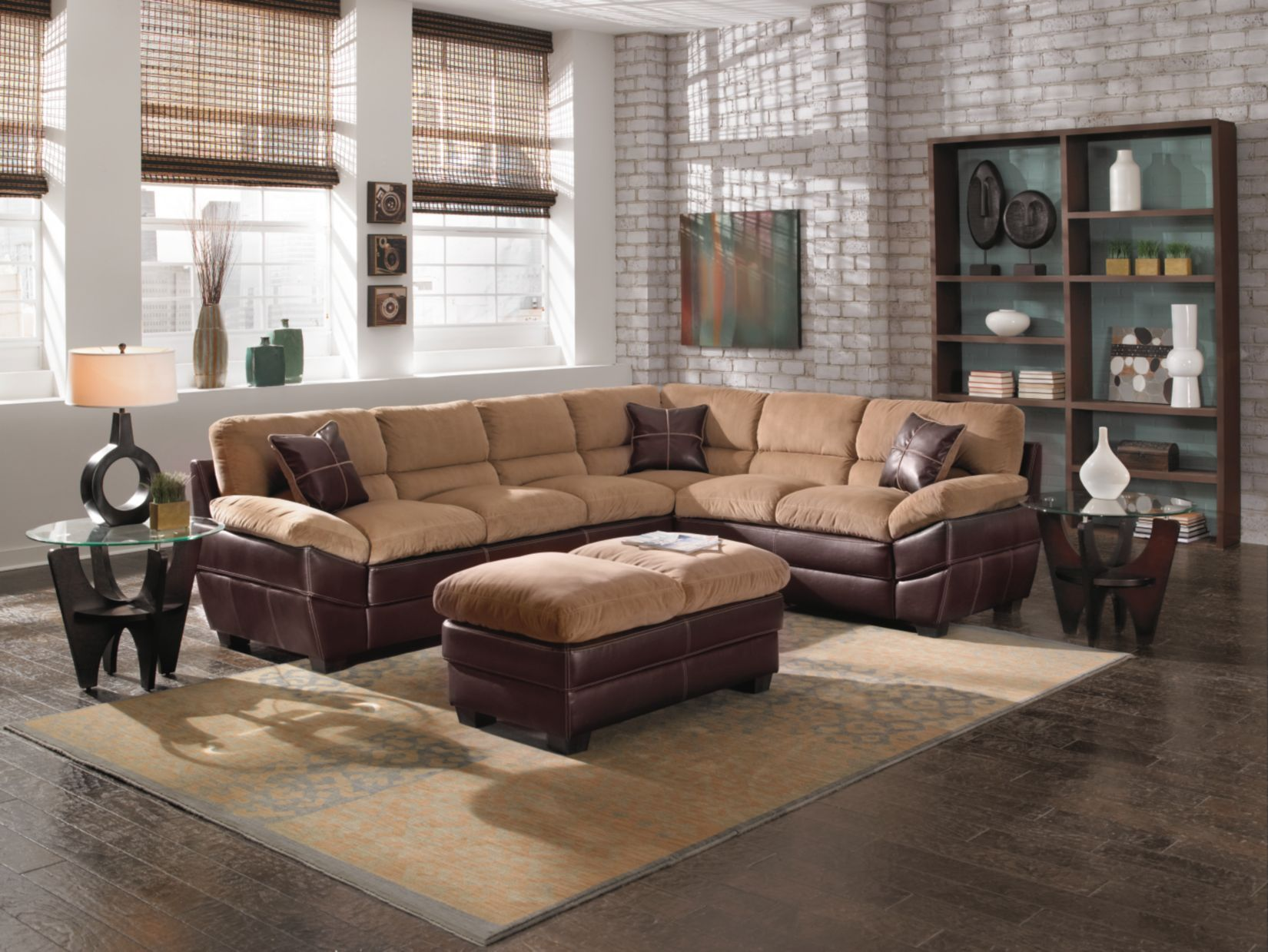 Chandler Beige 3 Pc Sectional Value City Furniture