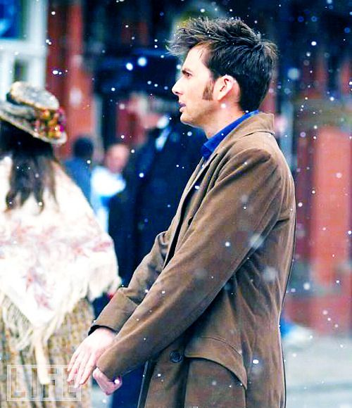 Doctor who. David Tennant and snoooow