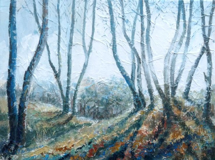 'Winter Trees' Acrylic with texture effect on canvas    https://www.facebook.com/pages/Rita-Readman-Art/270262966411327