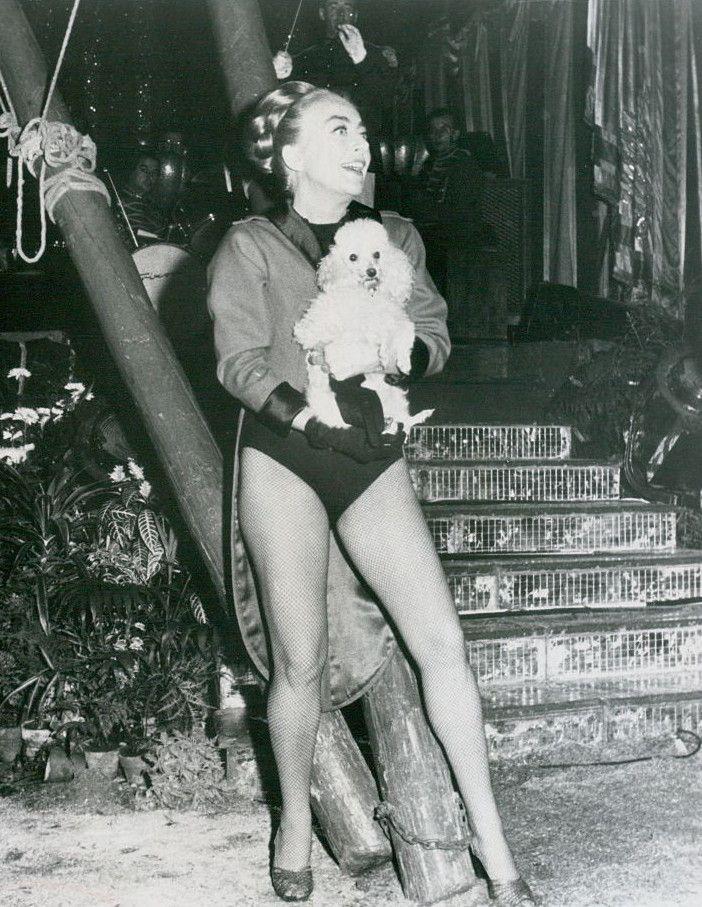 Joan Crawford in Berserk with her poodle