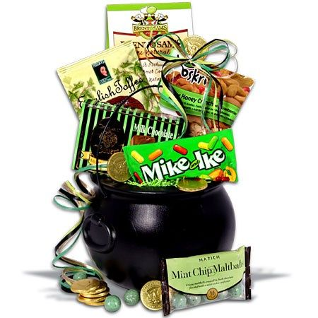 Well Look At This Pot O Goodness St Patrick S Day Gift Basket Irish Gift Basket Unique Christmas Gifts Gift Baskets