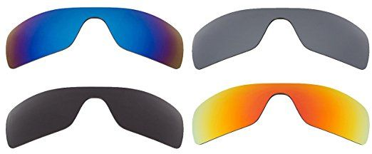 bfe44144b2a Best SEEK OPTICS Replacement Lenses Oakley BATWOLF – Grey Red Silver Blue  Review