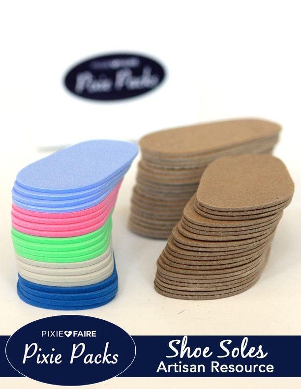 Pixie Packs SHAPE 1 Pre-cut Shoe Soles 2mm Color Variety 2   Puppen ...