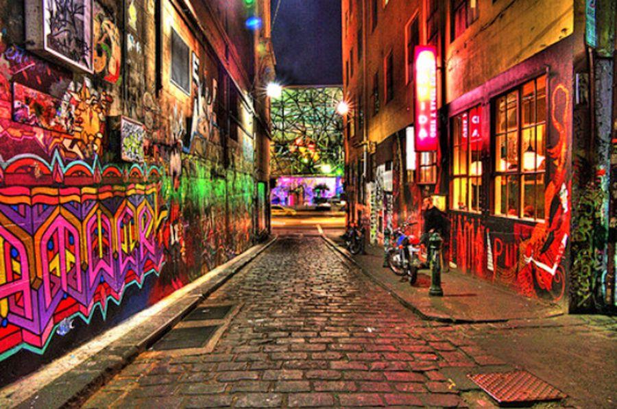 Aussie Alleyway In Melbourne Neon Neon Everywhere Melbourne Graffiti Street Art Best Street Art