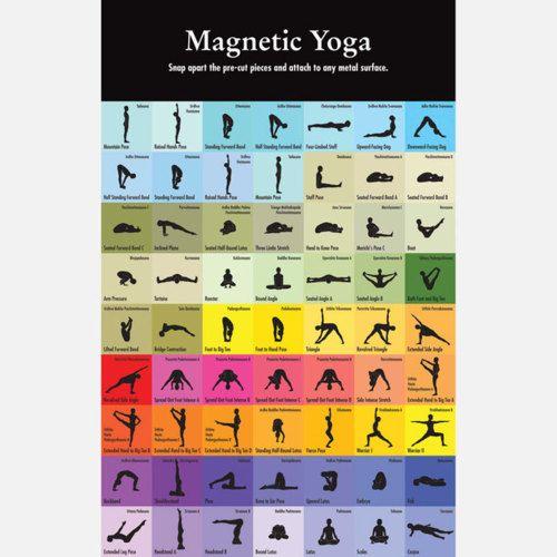 <3 Yoga Magnets - viaAmazon