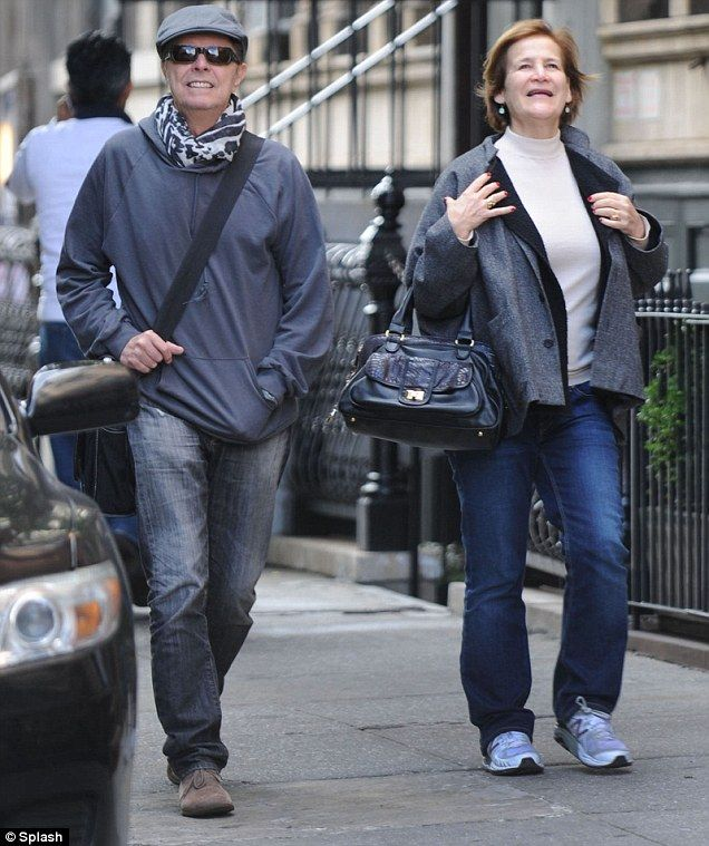 A Grinning David Bowie Has Wide Smile As He Joins Female Friend For Lunch At Sant Umbroeus In New York