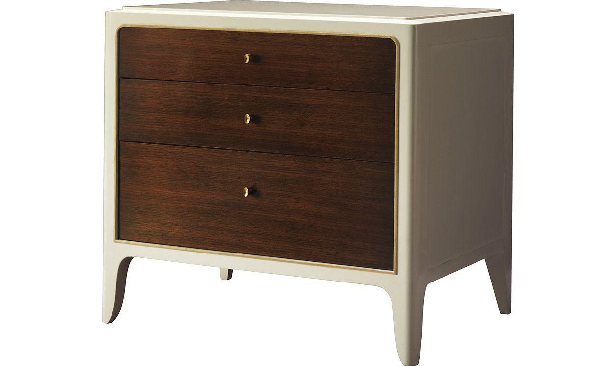 Soft Corner Bedside Chest by Barbara Barry - 3608G-1 | Baker Furniture