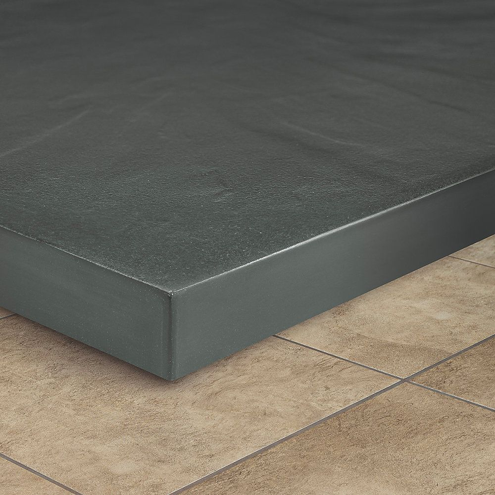 The Shower Tray Company Rectangular Shower Tray Grey Slate Effect 1100 X 800 X 27mm Shower Trays Screwfix Com Shower Tray Rectangular Slate Grey