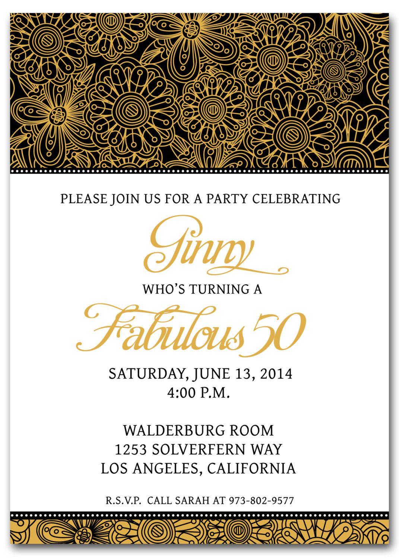 50th Birthday Invitation Templates Free Printable 50th