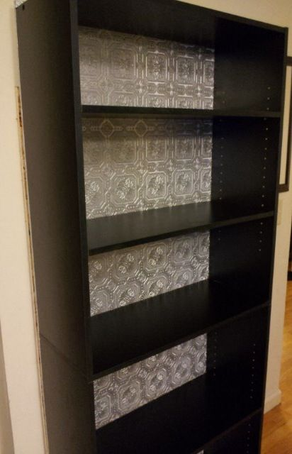 Bookshelf Redo Target Wallpaper Lowes Plywood Cut To Dimensions Spray Paint