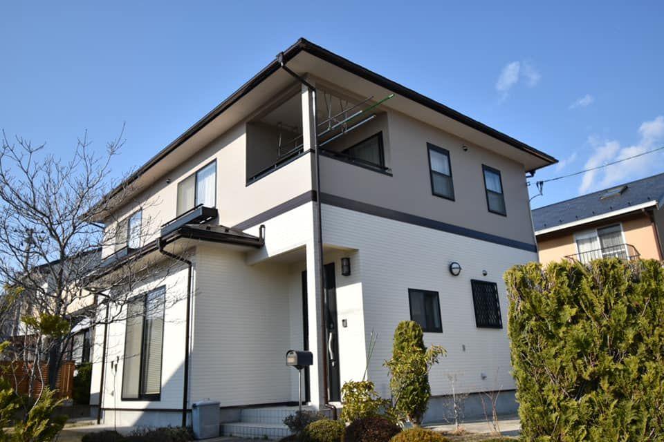 富谷市 M様宅 塗料はskkの エスケープレミアムシリコン を使用 1階