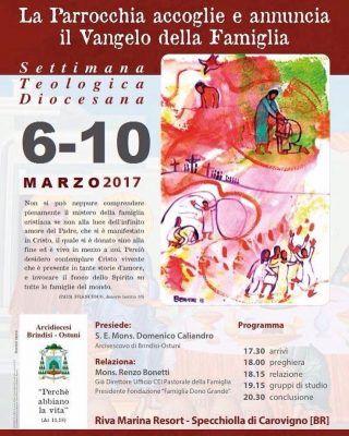 Settimana Teologica Diocesana 6-10 marzo 2017
