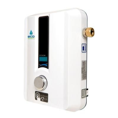 Ecosmart Eco 11 Tankless Electric Water Heater 13 Kw 240 V Eco 11 The Home Depot Tankless Water Heater Water Heater Electric Water Heater