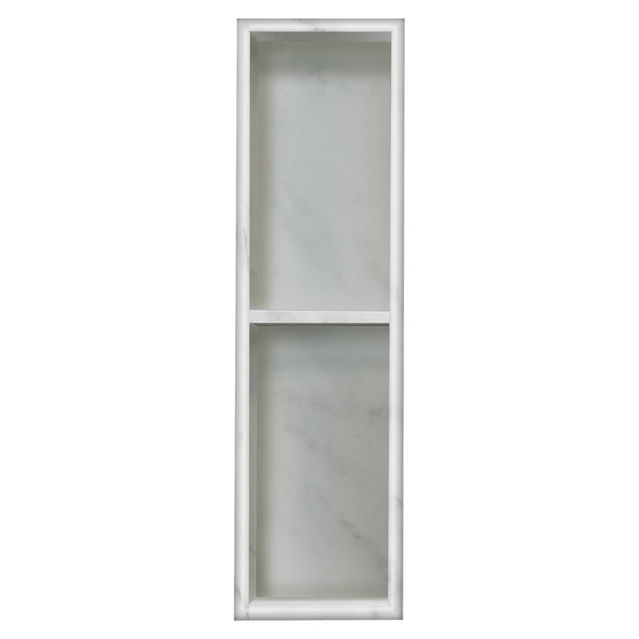 Style Selections White Carrara Shower Wall Shelf