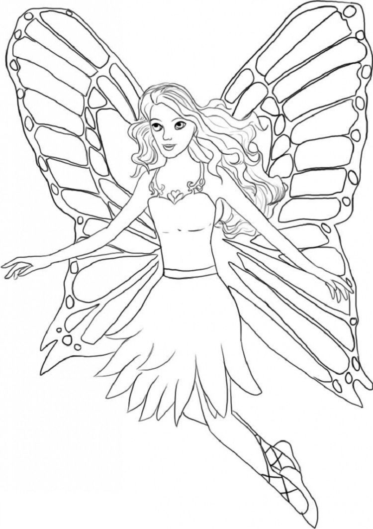 barbie wings coloring pages in 2019 Barbie coloring