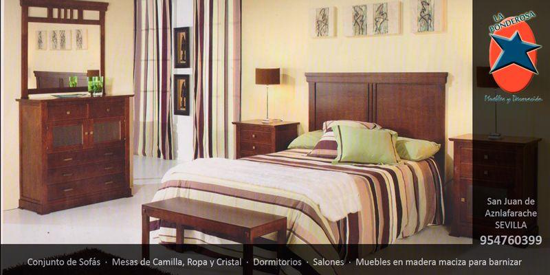 #Dormitorio #matrimonio en #Sevilla. #Muebles y #Decoración La Ponderosa en San Juan de Aznalfarache, #Andalucía