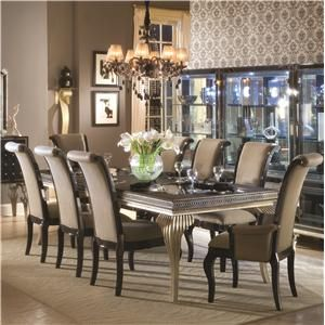 Good Aico Amini Innovation Hollywood Swank 9 Piece Table And Chair Set   Marlo  Furniture   Dining