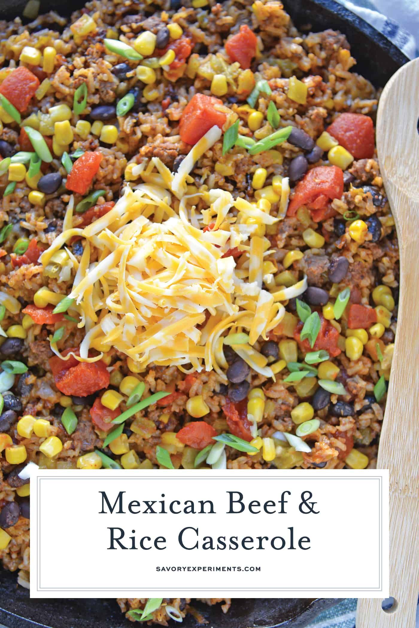 Mexican Beef And Rice Casserole Is An Easy Weeknight Recipe Using