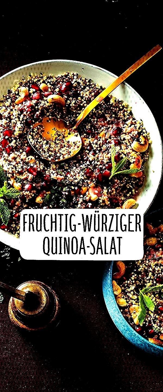 würziger Quinoa-SalatFruchtig würziger Quinoa-Salat Van wokgerechten met kip tot roerbakken met