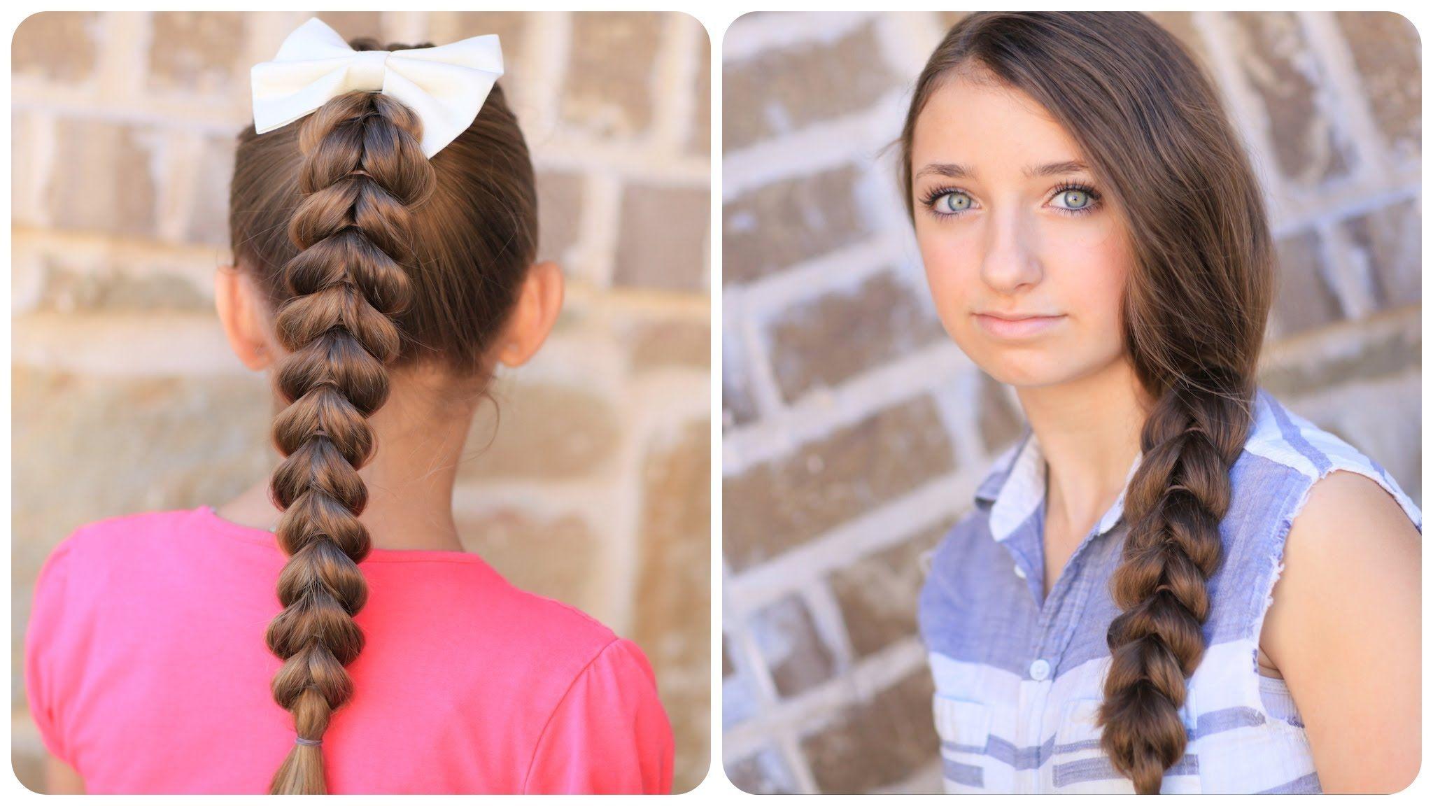 Pullthrough braid hair video tutorials pinterest easy