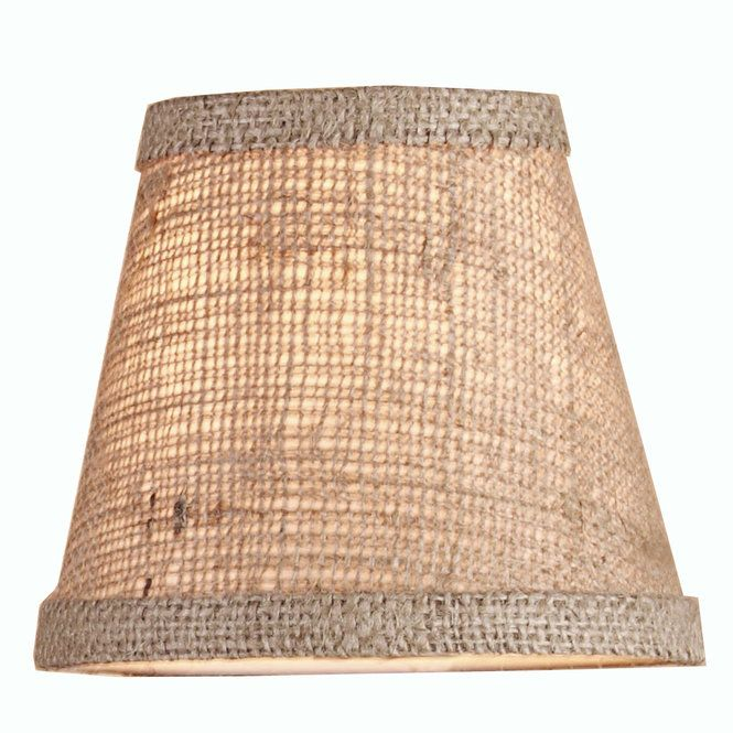 5 Burlap Empire Chandelier Shade Small Lamp Shades Rustic Lamp