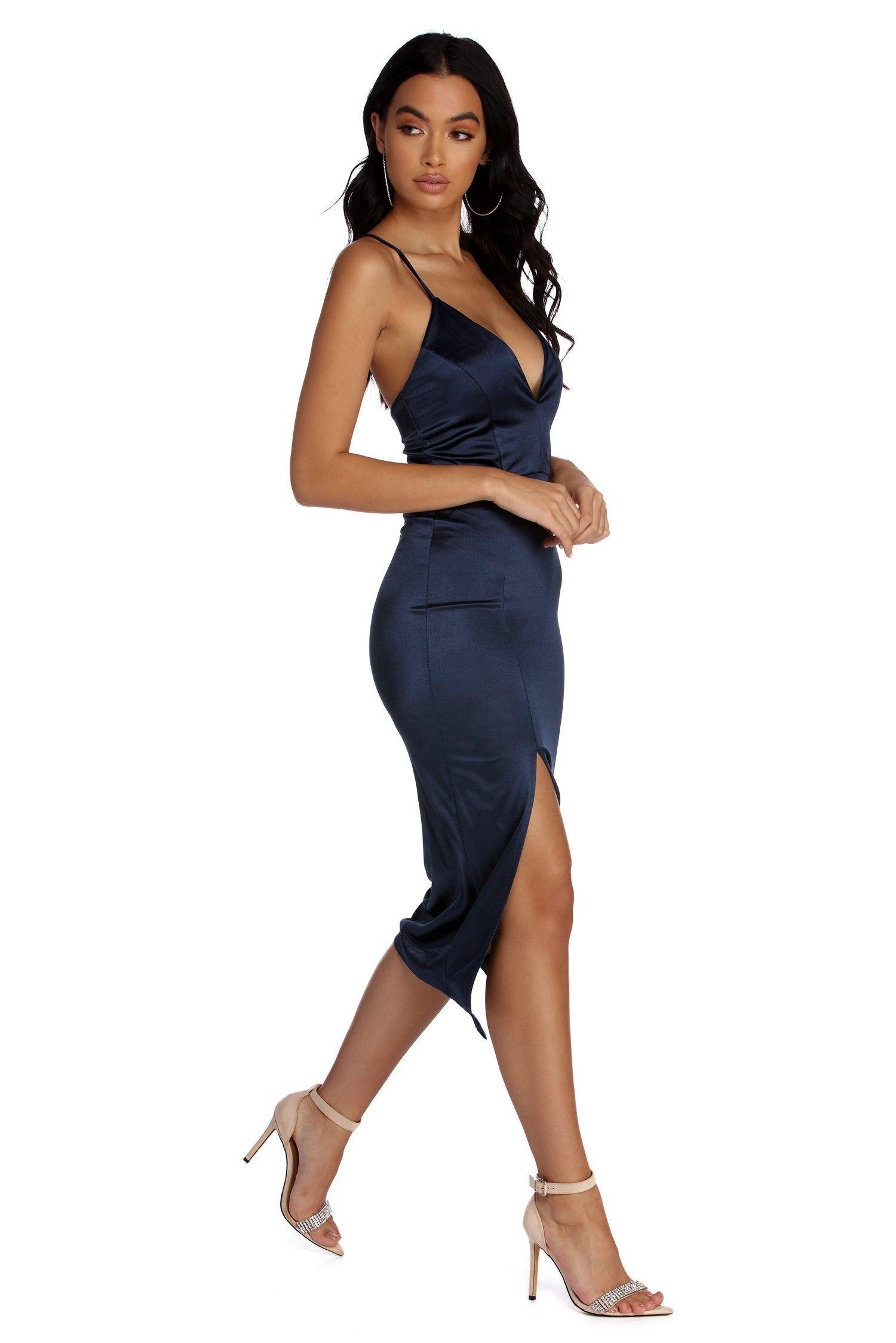 a2bf7f7ee1 Kenzie Formal Lattice Midi Dress in 2019 | Yayers | Dresses, Blue ...