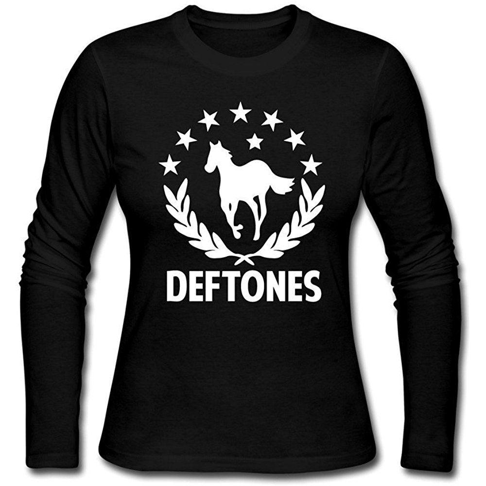 Alexis O Womens Deftones Rock White Pony T Shirts M Black Women 00243 17 90 Shirts Womens Shirts T Shirt [ 1000 x 1000 Pixel ]