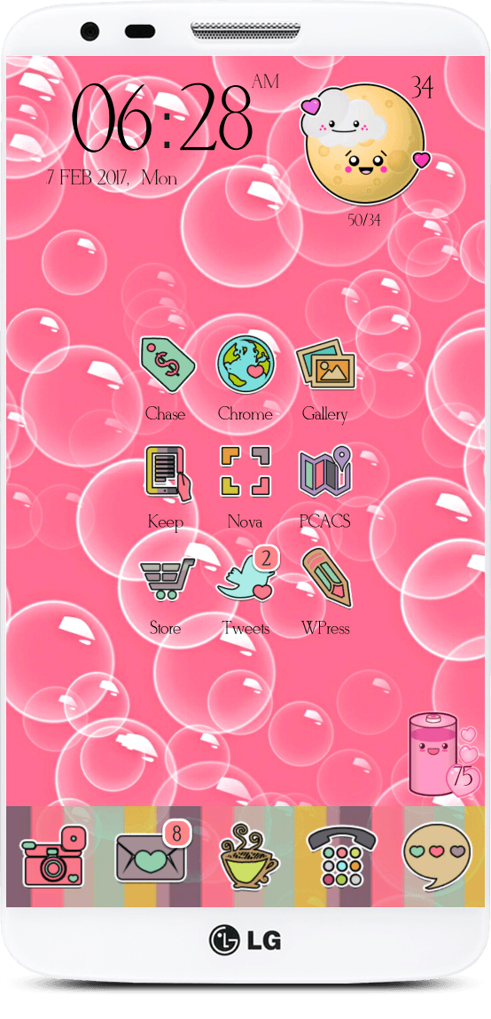 Today Im Styling Android With So Not You Go Launcher Theme Icons I