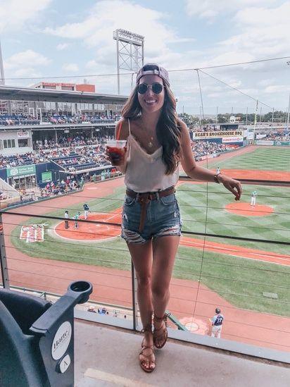 Baseball Game Outfit Shopstyle Shopthelook Summerstyle Baseball Game Outfits Gaming Clothes Baseball Outfit