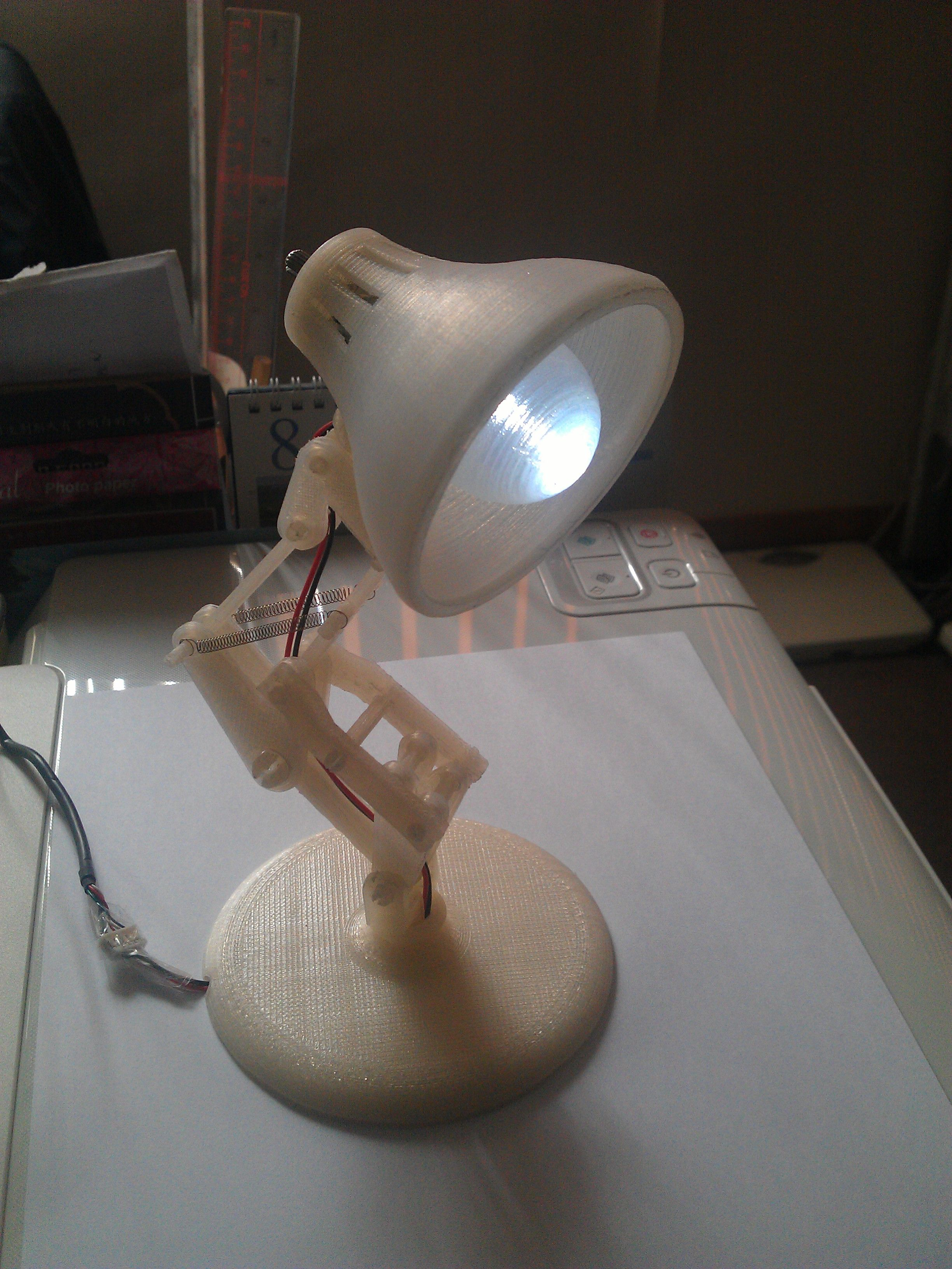Centerpiece With The Flowers Luxo Jr Lamp Desk Lamp 3d Printing