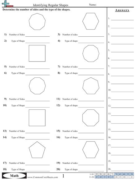 Shapes Worksheets Shapes Worksheets Common Core Worksheets Worksheets
