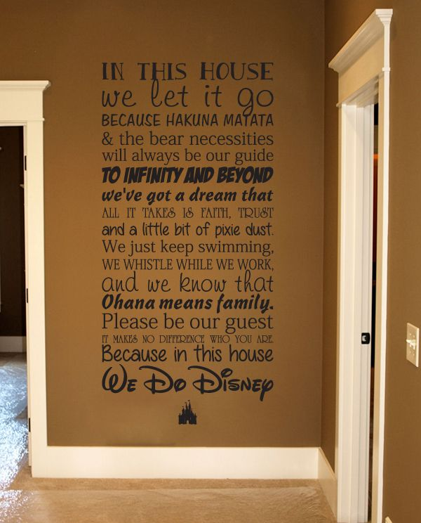 This Disney House Subway Wall Decal Disney Wall Decals Wall