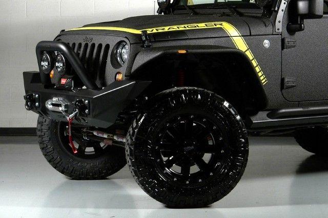 2013 Gloss Black Yellow El Diablo K Jeep Wrangler Http Www