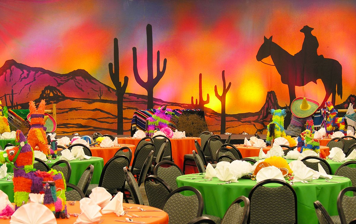 mexican themed party with piñata centerpieces party theme