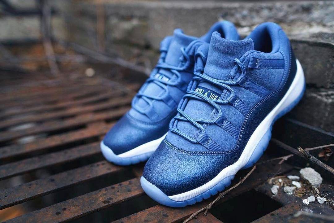 IN STOCK  Nike Air Jordan 11 Retro Low Blue Moon kickbackzny.com ... 1babe11273a4